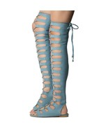 cape robbin jovena1 thigh high lace up shoe size 6 - $49.50