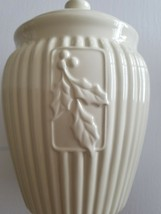 "INSPIRADO Brand ~ STONELITE ~ 11"" TALL ~ SEALED COOKIE JAR ~ Ivory Colored - $54.65"