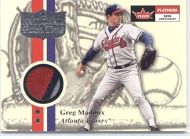 2001 Fleer Platinum National Patch Time #34 Greg Maddux Braves Gray-Whit... - $25.00