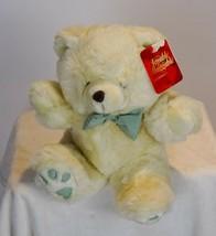 Dan Dee Loveable Huggable Friends TEDDY BEAR 11in Tan Plush Striped Bow NEW - $19.40