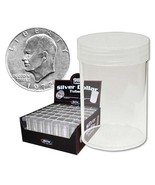 25 BCW Round Clear Plastic Large Silver Dollar 59.4mm Coin Tubes w/Screw... - £14.68 GBP
