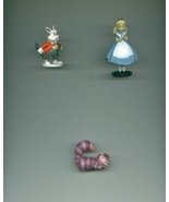 Disney ALICE IN WONDERLAND cake toppers/PVC figures White Rabbit / Chesh... - $12.00