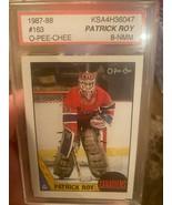 1987-88 OPC O-pee-chee Patrick Roy #101 PSA 8 NEAR MINT - $148.45