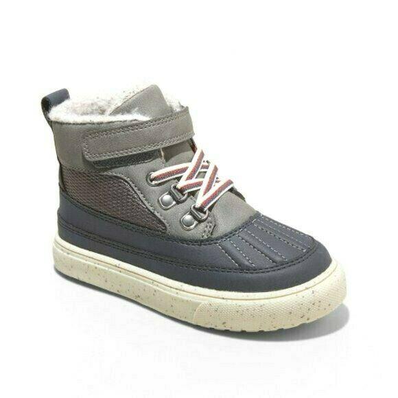 Cat & Jack Boys Toddler Size 10 Gray Greyson Winter Fashion Snow Boots NWT
