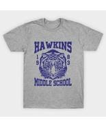 Stranger Things TV Series Hawkins Middle School Logo T-Shirt NEW UNWORN - $14.99