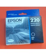 Genuine Epson 220  Black Ink Cartridge New  2022 - $14.01