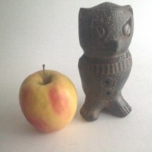 Vintage Owl Figurine Detailed Hand Carved Ceramic Rustic Home Decor Bro... - $17.77