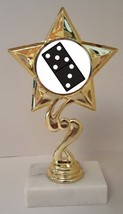 "Domino Trophy 7"" Tall As Low As $3.99 Each Free Shipping T03N2 - $7.99+"
