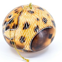 Handcrafted Carved Gourd Art Dalmatian Puppy Dog Ornament Handmade in Peru image 2