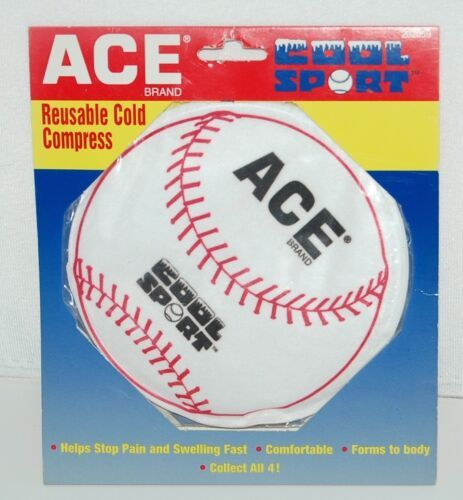 Ace 202059 Cool Sport Reusable Cold Compress Baseball White