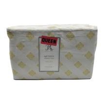 Rachel Ashwell Shabby Chic White Yellow Cloud Pretty Medallion Queen Sheets - $79.95