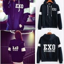 Kpop Exo Chan Yeol D.O We Are One Black Zip Hoodies Jacket Coat - $24.01