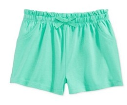 First Impressions Play Baby Girls' Solid Ruffle-Waist Shorts,Aqua Bliss,Size 18M - $9.89
