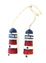 Nautical Americana Beach Country Lighthouse Wood Wall Hanging Decor Wooden - $14.52
