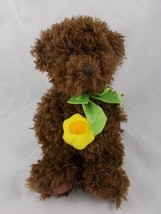 "Russ Brown Bear Daisy Flower Plush 11"" Stuffed Animal Toy - $6.95"