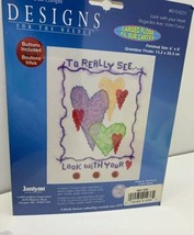 """Janlynn Designs For The Needle Hearts 6"""" x 8"""" Counted Cross Stitch Kit #015-0231 - $6.99"""