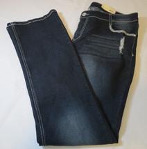 Faded Glory womens 16A Bootcut Midrise FG Bling Denim jeans pants dark wash NWT - $32.17