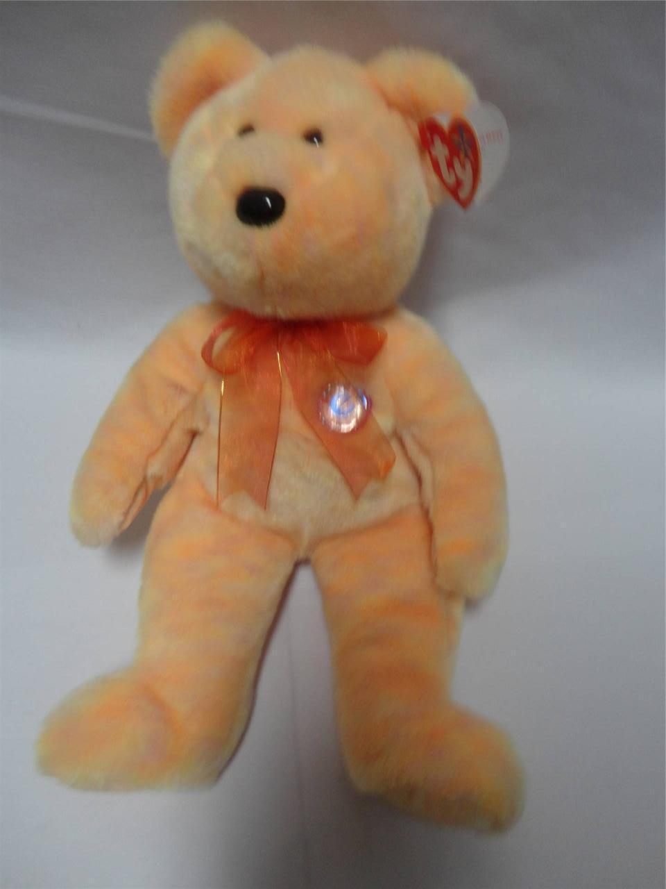 TY Beanie Original Buddy Sunny Bear 2001 with Tags