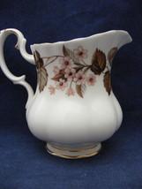 "Royal Albert Linden Cream Pitcher Pink & Brown Floral 3.25"" x 2 3/8"" - $13.45"