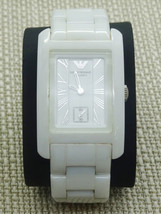 Emporio Armani Ladies White Ceramic Rectangle Dial Watch AR1409 - $325.00