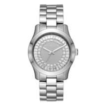 Michael Kors MK6531 Silver Tone Crystal Dial Stainless Steel Silver Wome... - $181.99