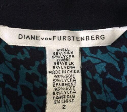 DVF DIANE VON FURSTENBERG Silk Blouse Authentic Berriti Crossover Women's Size 2 image 5