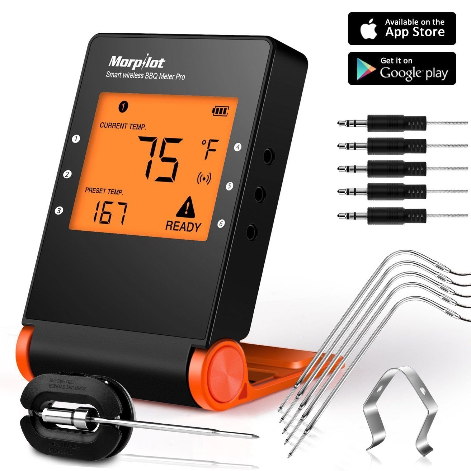 Wireless Bluetooth Meat Bbq Thermometer For And Similar Items