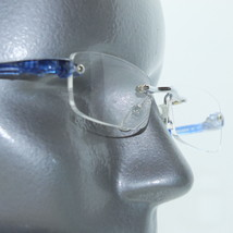 Reading Glasses Frameless Chic Blue Side Arms +1.00 Lens - $14.97
