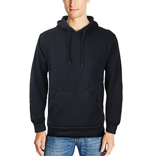 vkwear Men's Athletic Drawstring Fleece Lined Sport Gym Sweater Pullover Hoodie