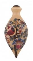 Festive Flock Ornament Ne'Qwa Art Cardinal Bluebirds Reverse Painted Gla... - $42.56