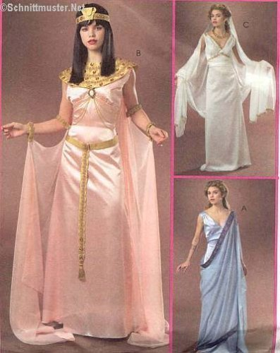 Primary image for RARE UNCUT MCCALL'S M4954 MISSES' COSTUMES - EGYPTIAN, GREEK, PRINCESS/GODDESS S