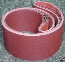 """5pc 6 """" X 80"""" 80 GRIT SANDING BELT Butt Joint sand paper Made Japan clot... - $32.99"""