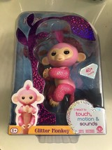 Authentic Fingerlings Pink Glitter Baby Monkey - Rose - Wowwee Interactive New - $24.98