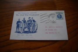 Tonawanda Civil War Centennial Stamp Cachet August 7 1961 4c Gustaf Mann... - $7.00