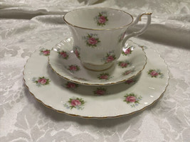 ROYAL ALBERT - Forget Me Not Rose Pattern Luncheon Set - Plate Cup & Saucer - $37.74