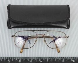 Fossil Eyeglasses Frame Full Rim Meteor 01WK 56-19-145 Gold g50 - $89.09