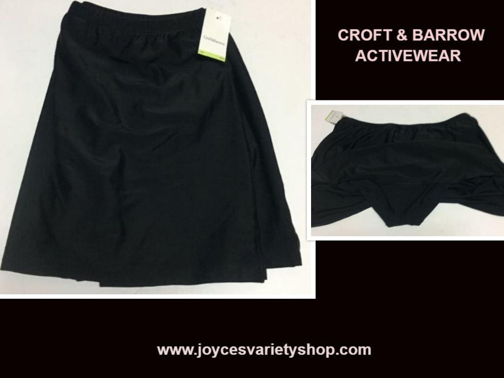 Croft & Barrow Activity Swimwear Skirt 18W Black