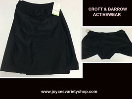 Croft & Barrow Activity Swimwear Skirt 18W Black image 1