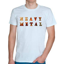 Rusty heavy metal white t-shirt - $14.80+