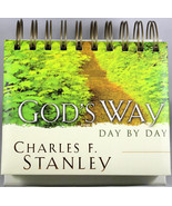 God's Way Day By Day Charles F. Stanley Perpetual Flip Calendar NEW by D... - $13.87