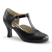 SALE Womens Black Vintage Flapper 20's T-Strap Spectators Costume Heels ... - $22.95