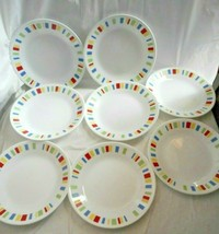 "Corelle Memphis Pattern Corning 6 3/4"" Bread & Butter Dessert Cake Plates Set-8 - $49.49"