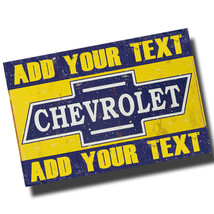 Personalized Vintage Chevrolet Garage 8x12 Inch Aluminum Sign - $19.75