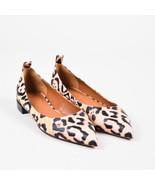 Givenchy NIB Beige Pink Black Leather Leopard Print Ballerina Flats SZ 35.5 - $345.00