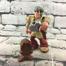 Fisher Price Great Adventures Davy Crockett Figure With Ax & Log Mattel VTG 1999 - $19.79