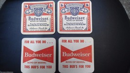 Vintage BUDWEISER KING OF THE BEERS COASTERS St Louis Anheuser-Busch Set... - $5.89
