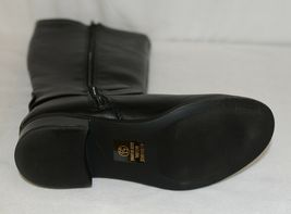 Soda HIROS Black Zip Up Riding Boot Gold Colored Accents Size 5 And Half image 8
