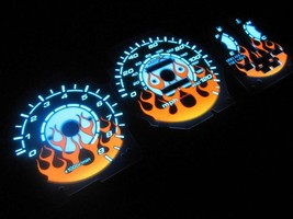 92-95 Honda Civic Automatic AT Transmission Flamed white face Glow Gauge... - $39.99