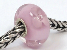 Authentic Trollbeads Pale Rose Flower Bead Charm, 61195 New - $23.75
