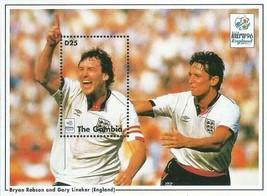 GAMBIA 1996 FOOTBALL EURO CUP/BRYAN ROBSON (ENGLAND) S/S MNH   SPORTS - $1.24